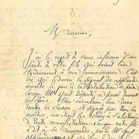 Lettre du Lycée d'Avignon à Alphonse Moulin
